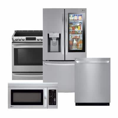 Stainless Steel Package With Couter Depth French Door Refrigerator The Home Depot
