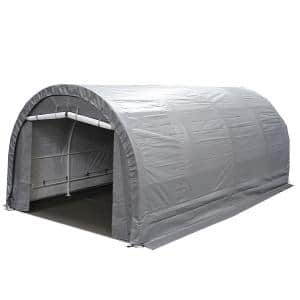 Approximate Width x Depth (ft): 10 x 20 in Portable Garages