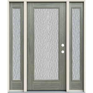 Single door with Sidelites in Fiberglass Doors