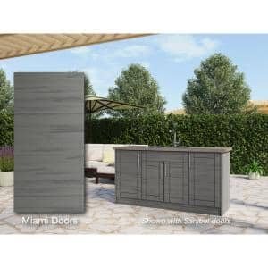 Dark Gray in Outdoor Kitchen Cabinets
