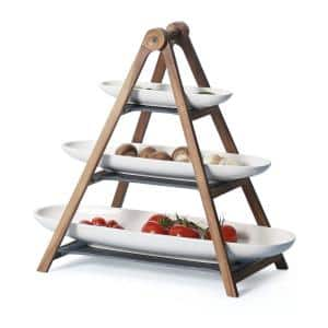 White cake stands & tiered cake stands