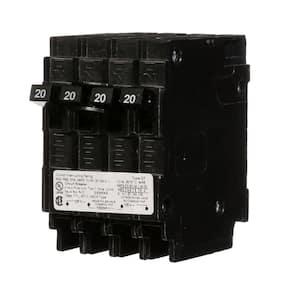 Maximum Amperage (amps): 20 in Quad Breakers