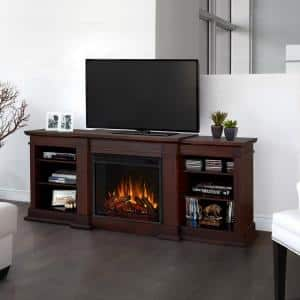 Cool To Touch Glass in Fireplace TV Stands