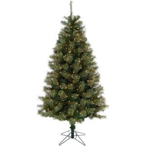 Artificial Tree Size (ft.): 7.5 ft in Pre-Lit Christmas Trees