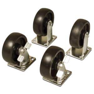 Product Height (in.): 5 - 10 in Casters