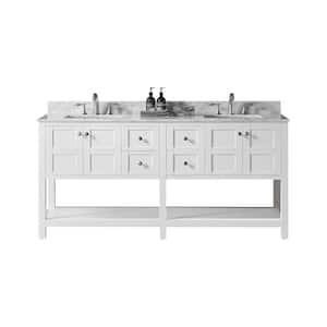 White in Bathroom Vanities with Tops