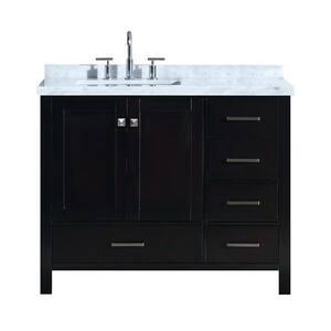 Sink on Left Side in Bathroom Vanities with Tops