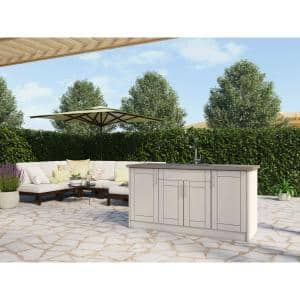 Gray in Outdoor Kitchen Cabinets