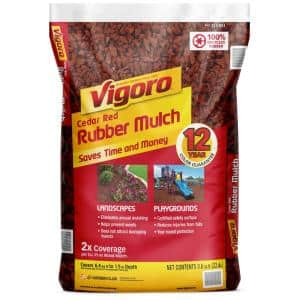 Red in Rubber Mulch