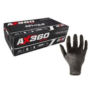 Black in Disposable Gloves