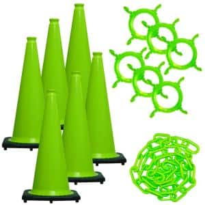 Green in Traffic Cones