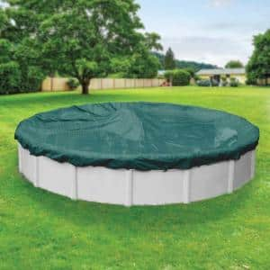 Round in Winter Pool Covers
