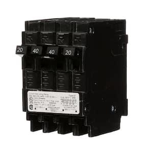 Maximum Amperage (amps): 40 in Quad Breakers