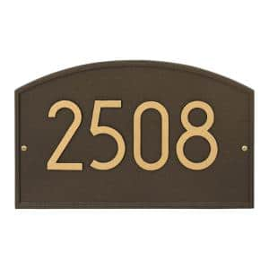 Aged Bronze in Address Plaques