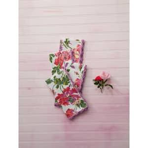 Floral cloth napkins & napkin rings