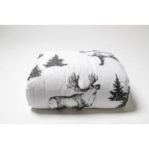Moose White in Comforters