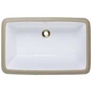 Rectangular in Undermount Bathroom Sinks