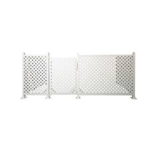 White in Vinyl Fencing