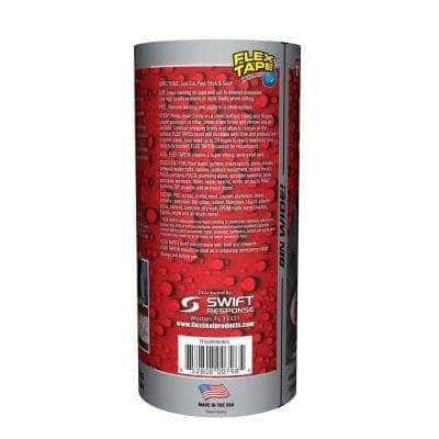 Flex Tape Gray 8 in. x 5 ft. Strong Rubberized Waterproof Tape (4-Piece)