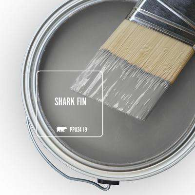 8 oz. #PPU24-19 Shark Fin Flat Interior Paint and Primer in One Sample