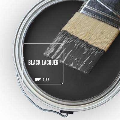 1 gal. #T13-3 Black Lacquer Semi-Gloss Enamel Interior Paint & Primer