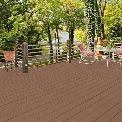 5 gal. #SC-152 Red Cedar Smooth Solid Color Exterior Wood and Concrete Coating
