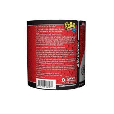 4 in. x 5 ft. Strong Rubberized Flex Black Waterproof Tape (2-Pack)