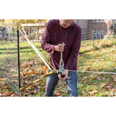 Small Frame, Single Line, 2,000 lbs. Come Along Cable Puller, 12 ft. Reach