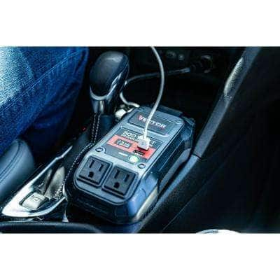 500-Watt Portable Car Power Inverter with Dual USB Ports