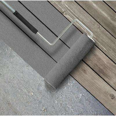 5 gal. #PFC-63 Slate Gray Textured Solid Color Exterior Wood and Concrete Coating