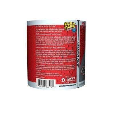 4 in. x 5 ft. Flex Tape Pool Clear Strong Rubberized Waterproof Tape (6-Piece)