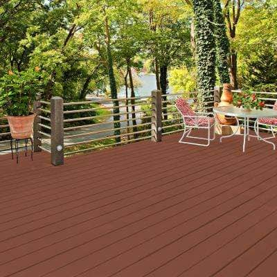 1 gal. #SC-130 California Rustic Smooth Solid Color Exterior Wood and Concrete Coating