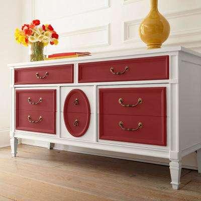 1 qt. #PPU1-10 Forbidden Red Interior Chalk Decorative Paint