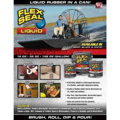 Flex Seal Liquid Black 32 oz. Liquid Rubber Sealant Coating