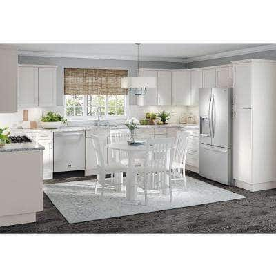 Cambridge Shaker Assembled 36x18x24.5 in. Refrigerator Wall Cabinet with 2 Soft Close Doors in White