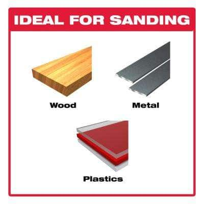 1/3 Sheet 120 Grit Sandpaper Hand Sanding Sheets (10-Pack)