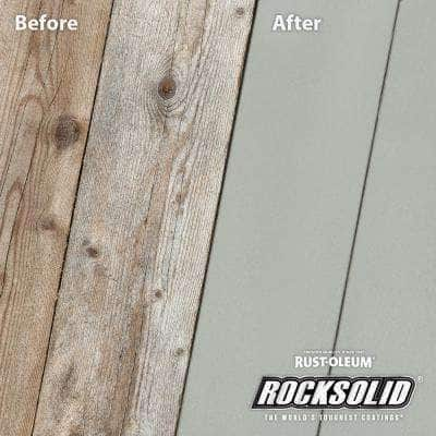 5 gal. Cape Cod Gray Exterior 2X Solid Stain