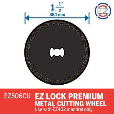 EZ Lock 1-1/2 in. Rotary Tool Premium Metal Cutting Wheel
