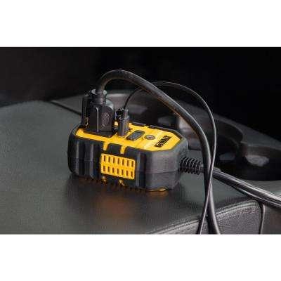 140-Watt Portable Car Power Inverter with Dual USB Ports