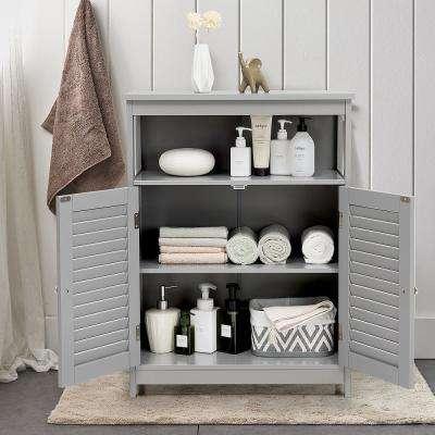 Gray P2 MDF Beadboard Door Stock Ready to Assemble Bath Kitchen Cabinet