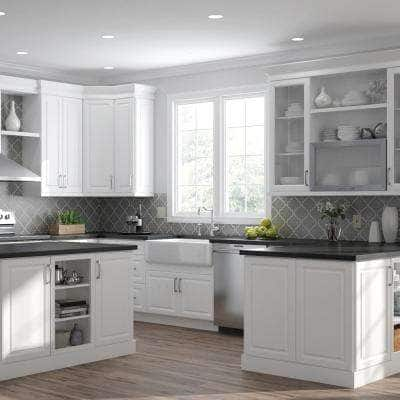 Designer Series Elgin Assembled 36x36x12 in. Wall Kitchen Cabinet in White