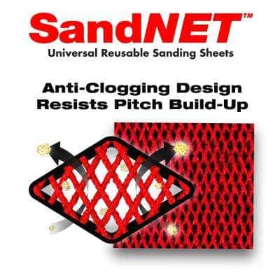 1/3 Sheet SandNET Faster Reusable 120 Grit Hand Sanding Sheets (5-Pack)