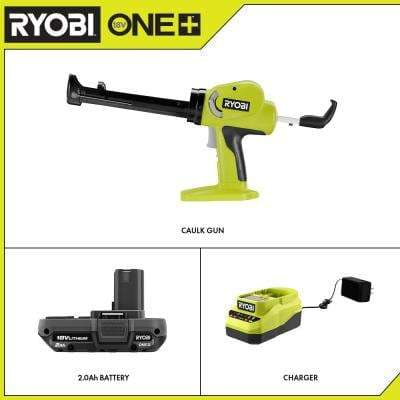 ONE+ 18V Cordless Power Caulk and Adhesive Gun with 2.0 Ah Battery and Charger