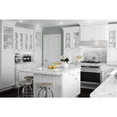 Brookfield Assembled 30 x 36 x 12 in. Plywood Mitered Wall Kitchen Cabinet Soft Close in Painted Pacific White