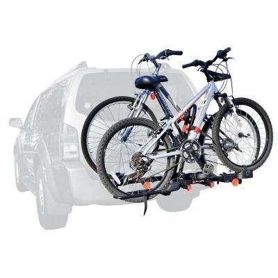 70 lbs. Capacity Easy Load 2-Bike Vehicle 2 in. and 1.25 in. Hitch Bike Rack