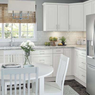 Cambridge Shaker Assembled 24 in. x 34.5 in. x 24.5 in. Base Cabinet w/ 1 Soft Close Drawer & 1 Soft Close Door in White