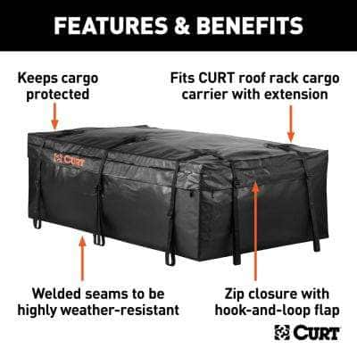 """59"""" x 34"""" x 21"""" Water Resistant Extended Rooftop Cargo Bag"""