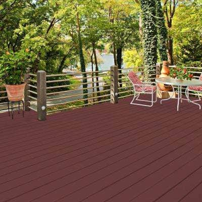 1 gal. #PFC-04 Tile Red Smooth Solid Color Exterior Wood and Concrete Coating