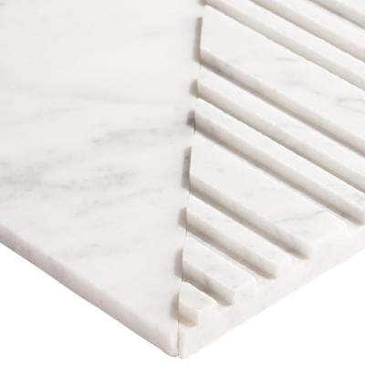 Michael Habachy Sliced Carrara 8 in. x 8 in. Limestone Wall Tile (2.15 sq. ft./Case)