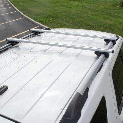 53 in. 165 lb. Capacity Universal Aluminum Roof Rack for Full Size SUVs (Set of 2)